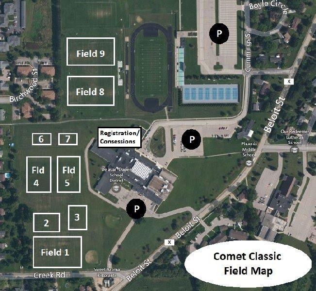 2014 Comet Classic Field Map